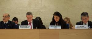 Paraguay en la ONU. Foto: RIDH-Ginebra.