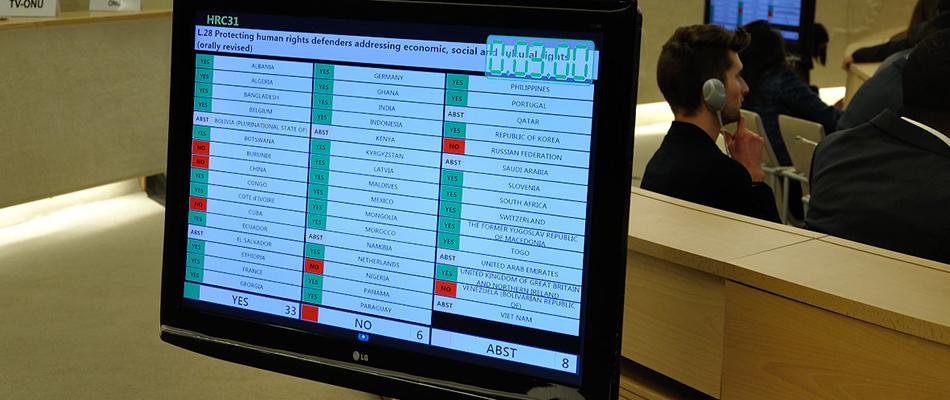 Importante respaldo de la ONU a los defensores de derechos humanos