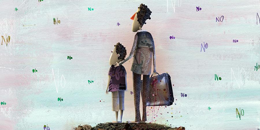 Dibujantes latinoamericanos cuentan la vida errante de los refugiados en exposición de afiches para la ONU