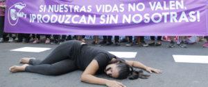 Protestas contra femicidios en Paraguay. Foto: Male Bogado.