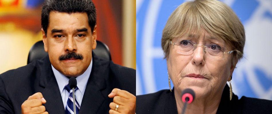 Bachelet aumenta presión sobre Maduro por derechos humanos en Venezuela