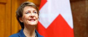 Simonetta Sommaruga, presidenta de Suiza. Foto: DENIS BALIBOUSE, crédito: REUTERS