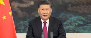 El presidente chino, Xi Jinping, durante su intervención telemática en el Fórum Económico Mundial de Davos. Foto: AFP
