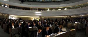 Sesión del Consejo de Derechos Humanos de la ONU. Foto: Fabrice Coffrini (AFP)
