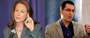 Los dos ministros: la ecuatoriana, Maria Fernanda Espinosa Garcés, y el venezolano, Jorge Arreaza.