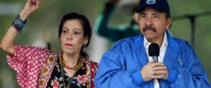 Daniel Ortega con su mujer Rosario Murillo. Foto: AFP / MARVIN RECINOS