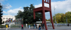 La Plaza de las Naciones en Ginebra, foto de Eduard Musy, Orbisswiss photos & Press, Ginebra.