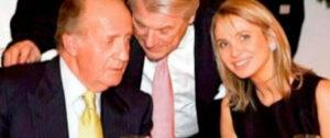 Rey Juan Carlos con su amante Corinna Larsen