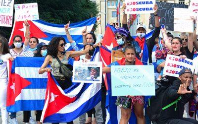 Bachelet condena la represión en Cuba y pide la liberación de los manifestantes detenidos